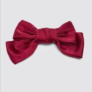 Zara pink bow hair tie